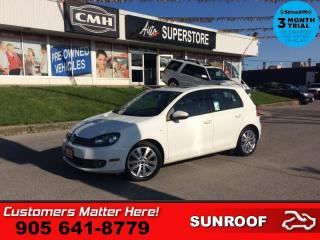 Used 2013 Volkswagen Golf Wolfsburg  DIESEL AUTO ROOF 2X-P/SEATS for sale in St. Catharines, ON