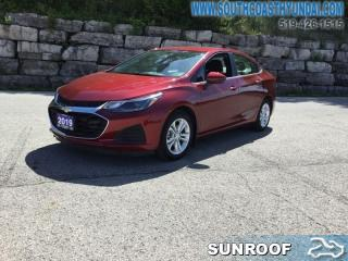 Used 2019 Chevrolet Cruze LT  - Apple CarPlay -  Android Auto for sale in Simcoe, ON