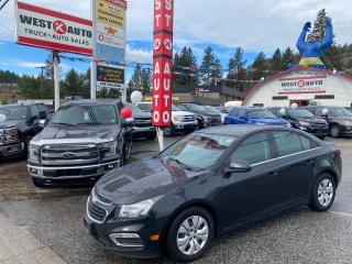 Used 2015 Chevrolet Cruze LT for sale in West Kelowna, BC