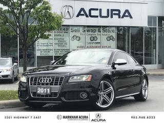 Used 2011 Audi S5 4.2 Premium Tip qtro Cpe Rare V8, Park Sensors, Navi for sale in Markham, ON