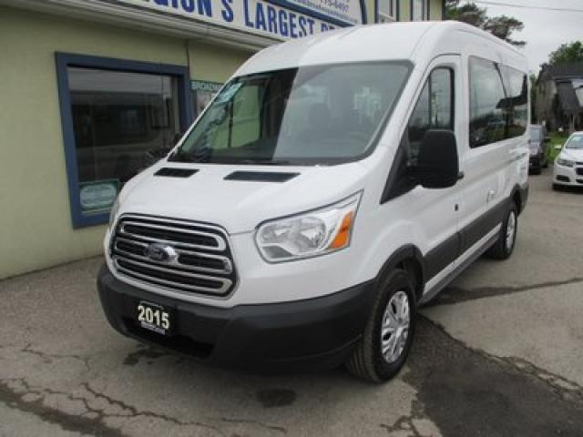 2015 Ford Transit PEOPLE MOVING XLT MODEL 8 PASSENGER 3.5L - V6.. BENCH & 3RD ROW.. EXT-CARGO AREA.. SLIDING MIDDLE DOOR.. TRAILER BRAKE.. AIR CONDITIONING..
