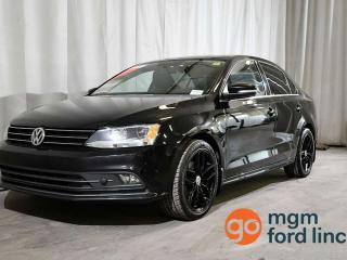 Used 2015 Volkswagen Jetta Sedan HIGHLINE | 5- SPEED MANUAL TRANSMISSION | LEATHER | HEATED FRONT SEATS | MOONROOF | REMOTE START for sale in Red Deer, AB