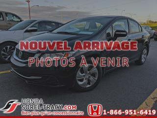 Used 2015 Honda Civic 4 portes,  manuelle, LX+A/C+CRUZE for sale in Sorel-Tracy, QC