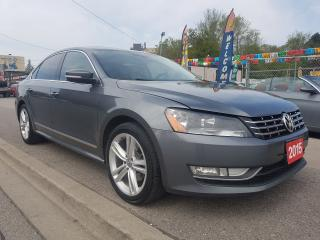 Used 2015 Volkswagen Passat HIGHLINE-Diesel-Navi-Bk Up Cam-Bluetooth-Sunrrof for sale in Scarborough, ON