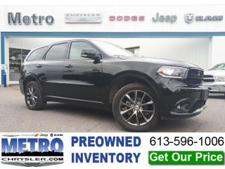 Used 2018 Dodge Durango GT - AWD & Loaded for sale in Ottawa, ON