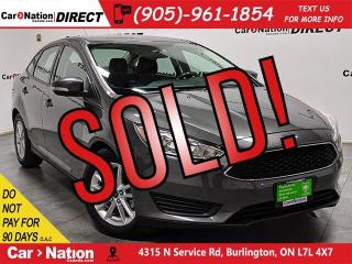 Used 2015 Ford Focus SE| BACK UP CAMERA| VERY LOW KM'S| for sale in Burlington, ON