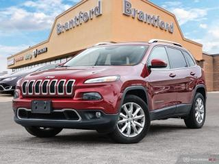 Used 2016 Jeep Cherokee Limited  - Leather Seats -  Bluetooth - $215.05 B/W for sale in Brantford, ON