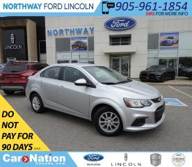 Used 2018 Chevrolet Sonic LT   KEYLESS ENTRY   BACKUP CAM   TOUCH SCREEN   for sale in Brantford, ON