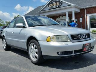 Used 1999 Audi A4 Quattro, Leather Heated Seats, Power Sunroof, 1.8L Turbo, 5 Speed Manual for sale in Paris, ON
