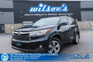 Used 2016 Toyota Highlander Limited AWD - Leather, Navigation, Sunroof, Heated + A/C Seats, Blind Spot Alert for sale in Guelph, ON