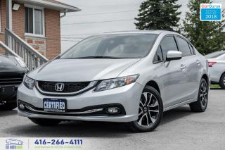 Used 2015 Honda Civic EX 1OWNER WARRANTY CERTIFIED SERVICED SUNROOF FOGS for sale in Bolton, ON