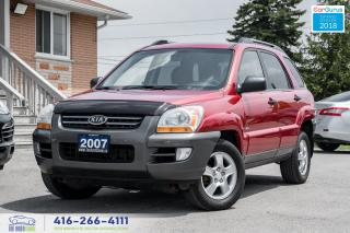 Used 2007 Kia Sportage V6 AWD CleanCarfax Certified Serviced Spotless dvd for sale in Bolton, ON