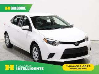 Used 2015 Toyota Corolla CE A/C GR ÉLECT for sale in St-Léonard, QC