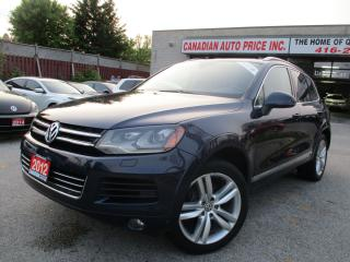 Used 2012 Volkswagen Touareg Execline-AWD-LTHER-NAVI-PANO-ROOF-BLUETOOTH-DIESEL for sale in Scarborough, ON