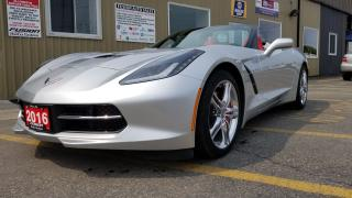 Used 2016 Chevrolet Corvette 3LT-LOCAL VEHICLE-NAVIGATION-FRONT AND REAR CAMERA for sale in Tilbury, ON