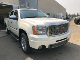 Used 2013 GMC Sierra 1500 DENALI, POWER LEATHER SEATS, DVD SYSTEM, SUNROOF, HEATED STEERING WHEEL for sale in Edmonton, AB