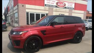 Used 2016 Land Rover Range Rover Sport Sport SVR 550HP AWD RED BUCKET SEATS/ BREMBO/ PANO/NAVI for sale in North York, ON