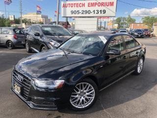 Used 2015 Audi A4 Quattro Komfort S-line Tinted Leather/Sunroof&GPS* for sale in Mississauga, ON