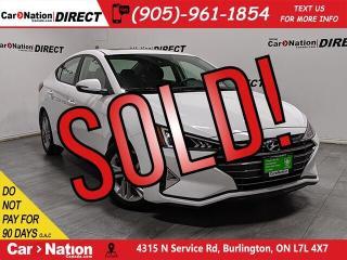 Used 2019 Hyundai Elantra Preferred w/Sun & Safety Pkg| SUNROOF| PUSH START| for sale in Burlington, ON