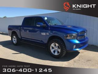 Used 2015 RAM 1500 Sport Crew Cab 4x4   Backup Camera   Heated Front Seats & Steering Wheel   Locking Tailgate for sale in Weyburn, SK
