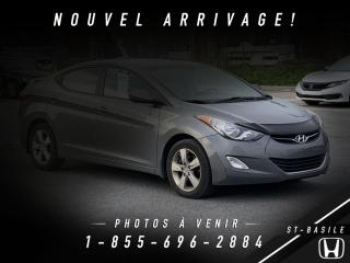 Used 2012 Hyundai Elantra GLS BLUETOOTH + TOIT + A/C for sale in St-Basile-le-Grand, QC