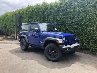 New 2019 Jeep Wrangler Sport 2dr 4WD Sport Utility for sale in Surrey, BC