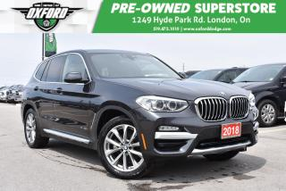 Used 2018 BMW X3 xDrive30i - Panoramic Roof, Back-Up, GPS, UConnect for sale in London, ON