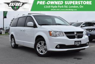Used 2018 Dodge Grand Caravan Crew - Power Sliding Doors, Power Hatch, UConnect for sale in London, ON