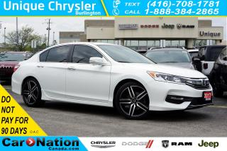 Used 2017 Honda Accord SPORT| LANEWATCH| REMOTE START| SUNROOF for sale in Burlington, ON