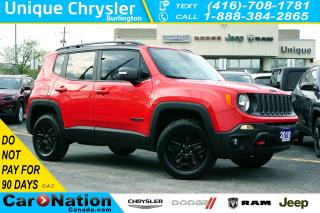 Used 2018 Jeep Renegade TRAILHAWK| 4X4| NAV| TOW GRP| LEATHER & MORE for sale in Burlington, ON