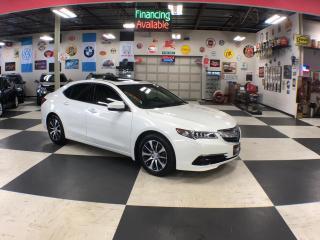 Used 2015 Acura TLX TECH PKG AUT0 NAVI P/START LEATHER SUNROOF CAMERA for sale in North York, ON