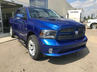 Used 2015 RAM 1500 SPORT, ACCIDENT FREE, POWER HEATED/VENTED LEATHER SEATS, HEATED STEERING WHEEL, KEYLESS IGNITION for sale in Edmonton, AB