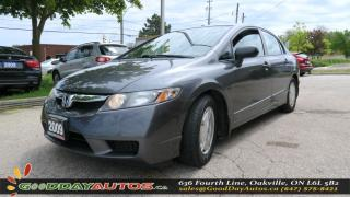 Used 2009 Honda Civic DX-G |NO ACCIDENT|SINGLE OWNER|ALLOYS|CERTIFIED for sale in Oakville, ON