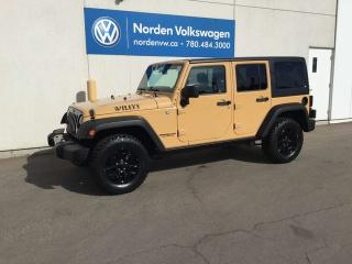 Used 2014 Jeep Wrangler Unlimited WILLYS 4WD - SUPER CLEAN for sale in Edmonton, AB