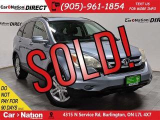Used 2010 Honda CR-V | LOCAL TRADE| 4X4| SUNROOF| for sale in Burlington, ON