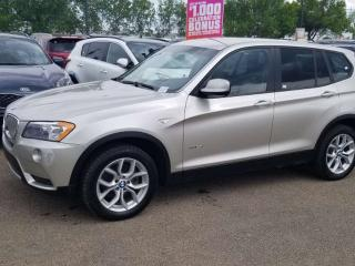 Used 2014 BMW X3 xDrive28i; BLUETOOTH, HEATED SEATS, CRUISE CONTROL, A/C AND MORE for sale in Edmonton, AB