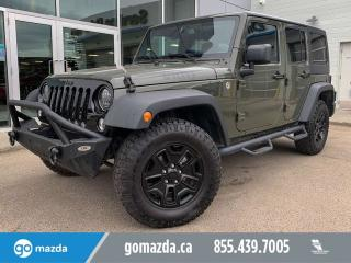 Used 2015 Jeep Wrangler Unlimited UNLIMITED SPORT WILLY'S EDITION BUMPER WINCH GREAT SHAPE for sale in Edmonton, AB