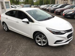 Used 2017 Chevrolet Cruze PREMIER/ AUTO/ LEATHER/ BLUETOOTH/ ALLOYS! for sale in Scarborough, ON