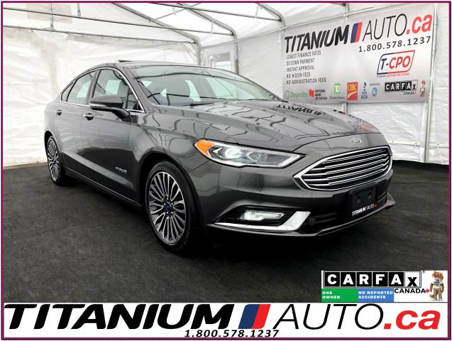 2018 Ford Fusion Titanium+Hybird+GPS+Camera+Cooled Leather+Sunroof+