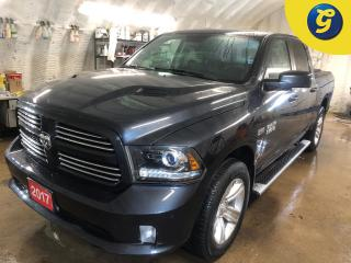 Used 2017 RAM 1500 Sport * CrewCab * Hemi * 4X4 * GPS navigation * Leather * Power Sunroof * Sport performance hood * 4-corner air suspension * ParkView Rear Back-Up Cam for sale in Cambridge, ON