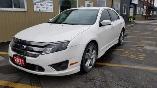 Used 2011 Ford Fusion SPORT-AWD-V6-LEATHER-NAVIGATION-SUNROOF for sale in Tilbury, ON