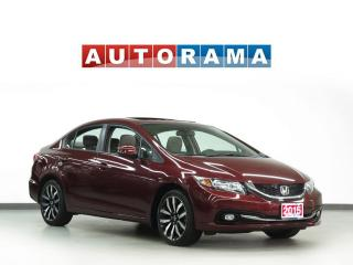 Used 2015 Honda Civic TOURING PKG NAVIGATION LEATHER SUNROOF BACKUP CAM for sale in Toronto, ON
