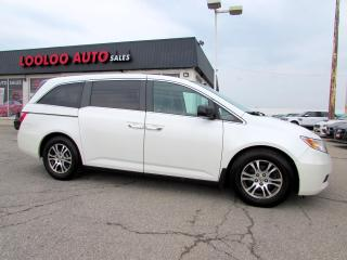 Used 2012 Honda Odyssey EX ROOF DVD PKG CAMERA POWER SLIDING DOOR CERTIFIED 2YR WARRANTY for sale in Milton, ON