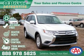 Used 2018 Mitsubishi Outlander w/NO ACCIDENTS, 4WD for sale in Saskatoon, SK