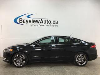 Used 2018 Ford Fusion Hybrid Titanium - 19,000KMS! LEATHER! NAV! ROOF! for sale in Belleville, ON
