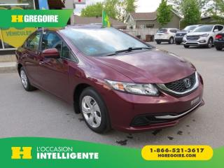 Used 2014 Honda Civic LX MAN A/C ABS for sale in St-Léonard, QC