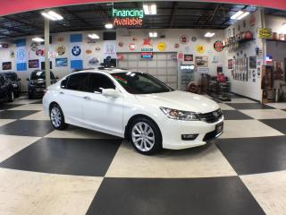 Used 2015 Honda Accord Sedan TOURING V6 AUT0 NAVI LEATHER SUNROOF CAMERA 79K for sale in North York, ON