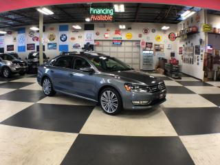 Used 2015 Volkswagen Passat 1.8 TSI COMFORTLINE AUT0 2TONE LEATHER SUNROOF 79K for sale in North York, ON
