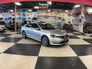 Used 2015 Volkswagen Passat 1.8TSI COMFORTLINE AUT0 2TONE LEATHER SUNROOF 65K for sale in North York, ON