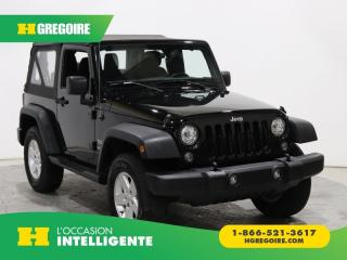 Used 2017 Jeep Wrangler Sport Awd for sale in St-Léonard, QC